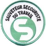 Écusson sauveteur secouriste du travai